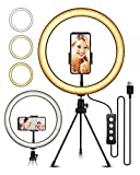 10.2' Selfie Ring Light with Tripod Stand, ELEGIANT Ring Light with Cell Phone Holder 3 Light Modes...