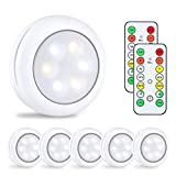 Alitade Wireless LED Puck Light With Remote Control,Under Cabinet Lighting,LED Closet Light,Battery...
