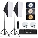 YICOE Softbox Lighting Kit Photography Photo Studio Equipment Continuous Lighting System with 5700K...