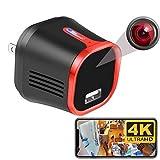 MCSTREE 4K Wireless Security Hidden Camera,USB Charger Indoor Spy Camera Surveillance Nanny Mini...