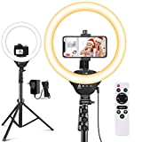 """12"""" Selfie Ring Light with 67"""" Tripod Stand & Cell Phone Holder, Aureday LED Circle Light for..."""