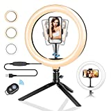10.2' Ring Light with Stand, BlitzWolf LED Ring Light with Stand and Phone Holder for YouTube Video...