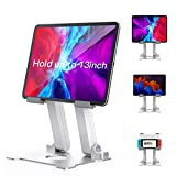 Tablet Stand Holder for Desk, Stable iPad Holder Stand YIKA [Weighted Metal Base], [Adjustable...