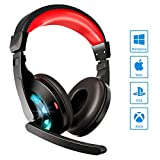 SHENMATE Gaming Headset with Microphone, Noise Cancellation Headset, Over Ear Headphones with Soft...