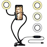 Selfie Ring Light with Cell Phone Holder Circle Lights LED Lighting for Photo Photography Vlogging...