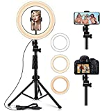 Ring Light,10.2' Selfie Light Ring with Stand (16.56' to 54') & Phone Holder,3 Light Modes &10...