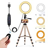 8' Selfie Ring Light, Fostoy LED Ring Light with 50' Extendable Tripod Stand & Cell Phone Holder for...