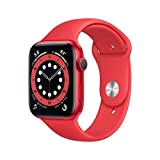 New AppleWatch Series 6 (GPS, 44mm) - (Product) RED - Aluminum Case with (Product) RED - Sport...