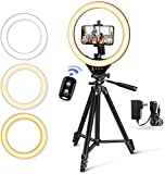 """10"""" LED Selfie Ring Light with Stand and Phone Holder, Torjim Dimmable Circle Light for..."""