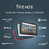 Fire HD 8 tablet, 8' HD display, 32 GB, latest model (2020 release), designed for portable...
