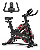 Exercise Bike - Indoor Cycling Bike for Home Gym with Comfortable Seat Cushion,Tablet Holder and LCD...