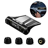 VSTM Tire Pressure Monitoring System TPMS,Solar Power Universal Wireless Car Alarm System with 4...