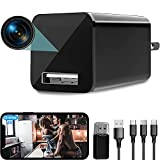 4K USB Hidden Camera Wall Charger WiFi, DZFtech Mini Spy Camera with Motion Detection, Indoor...
