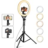 UBeesize 12'' Ring Light with Tripod, Selfie Ring Light with 67'' Tripod Stand, Light Ring...