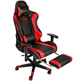 Femor Gaming Chair Office Chair with Footrest Ergonomic Adjustable Leather Computer Desk Chair...