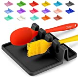Silicone Utensil Rest with Drip Pad for Multiple Utensils, Heat-Resistant, BPA-Free Spoon Rest &...