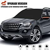 Windshield Snow Cover, Extra Large & 3-Layer Thick Fits Any Car Truck SUV Van, Straps & Magnets...