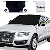 Belosi Car Windshield Snow Cover, Double-Side Design Sun Shade Protector with Elastic Mirror...