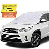 Windshield Snow Cover,Car Windshield Snow Cover with 5 Layers Protection,Windshield Cover for Ice...