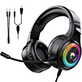 Gaming Headset Xbox One Headset with Stereo Surround Sound,PS4 Gaming Headset with Mic & LED Light...