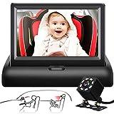 Shynerk Baby Car Mirror, 4.3'' HD Night Vision Function Car Mirror Display, Safety Car Seat Mirror...