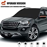 [2020 Upgrade] Windshield Snow Cover, Extra Large & 3-Layer Thick Fits Any Car Truck SUV Van, Straps...