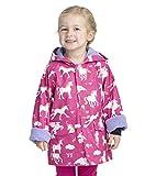 Hatley Girls' Big Printed Raincoats, Rainbow Unicorns, 10 Years