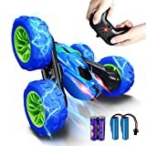 RC Stunt Car [Upgraded 2021], SHARKOOL 360°Flips Double Sided Rotating 4WD 2.4Ghz Remote Control...