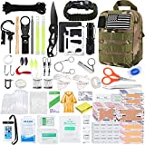 KOSIN Survival Gear and Equipment, 500 Pcs Survival First Aid kit, Fishing Gifts for Men Dad Boy...