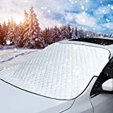 MITALOO Car Windshield Snow Cover, Ice Removal Sun Shade for Winter Protection, Universal Fit for...
