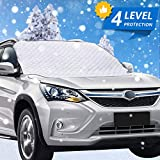 Car Windshield Snow Cover,Windshield Snow Cover with 4 Layer Protection,Windshield Cover for Ice and...