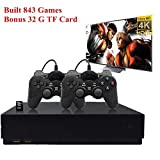Retro Game Console, HD Video Game Consoole 843 Classic Games 4K HDMI TV Output with 2PCS Joystick...