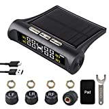 Car Tire Pressure Monitoring System - 6 Alarm Modes - Universal Wireless Smart Tire Safety Monitor...