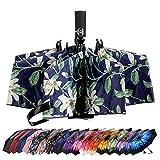 LANBRELLA Umbrella Inverted Travel Umbrellas Windproof Compact Folding - Lily