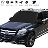 Windshield Snow Cover,Extra Large Magnetic Windscreen Ice Cover,Sun Shade Protector with Rearview...