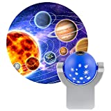 Projectables Solar System LED Night Light, Plug-In, Dusk-to-Dawn Sensor, Auto On/Off, Projects the...