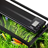 Hygger Auto On Off 48-55 Inch LED Aquarium Light Extendable Dimmable 7 Colors Full Spectrum Light...