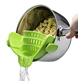 Kitchen Gizmo Snap N Strain Strainer, Clip On Silicone Colander, Fits all Pots and Bowls - Lime...