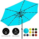 Best Choice Products 10ft Solar LED Lighted Patio Umbrella w/Tilt Adjustment, Fade-Resistant Fabric...
