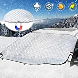 Windshield Snow Cover, UBEGOOD Car Windshield Ice Snow Cover with Magnetic Edges, Thicker 4 Layers...