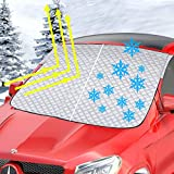 Bliifuu Windshield Snow Cover, Snow Sun Shade Dustptoof All Weather Protection Outdoor, 4-Layer...