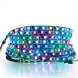 ALITOVE RGB Addressable LED Strip WS2811 12V LED Strip Lights 16.4ft 300 LEDs Dream Color...