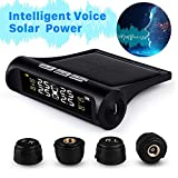 Rocboc Wireless Smart Tire Safety Monitor, Solar Power TPMS Tire Pressure Monitoring System with 4...
