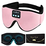 MUSICOZY Sleep Headphones 3D Bluetooth Wireless Sleep Mask, Sleeping Headphones Music Eye Mask for...