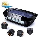 Tymate Tire Pressure Monitoring System-Solar Charge, 5 Alarm Modes, Auto Backlight & Sleep & Awake...