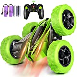 Rcfunkid Remote Control Car, 4WD RC Cars with Double Sided 360 Degrees Tumbling and Rotating, 2.4GHZ...