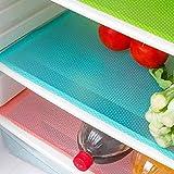 AKINLY 9 Pack Refrigerator Mats,Washable Fridge Mats Liners Waterproof Fridge Pads Mat Shelves...