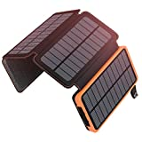 ADDTOP Solar Charger 25000mAh Huge Capacity Solar Power Bank with Dual 5V/ 2.1A Outputs High-Speed &...