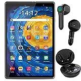 8-inch Tablet + Free Bluetooth Headset, 3GB RAM + 32GB ROM 128GB Expandable Memory, Android 10 Quad...