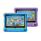 All-new Fire HD 8 Kids Edition tablet 2-pack, 8' HD display, 32 GB, Blue/Purple Kid-Proof Case
